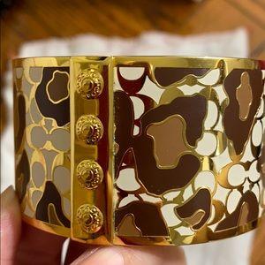 Coach printed design bangle bracelet